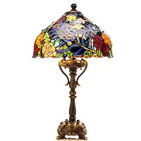 Tiffany Style Evening Rose Table Lamp