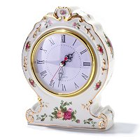 Royal Albert Old Country Rose Victorian Clock-Signed