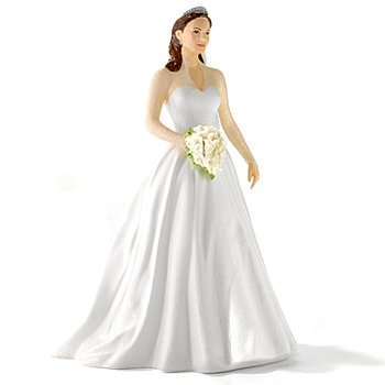 406-162 - Royal Doulton 9'' Limited Edition Royal Wedding Day Catherine Figurine w/ Heart Ornament