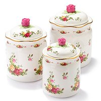 Royal Albert Old Country Rose Set of Three Cansters