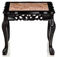 VIRGINIAN MARBLE INLAY END TABLE
