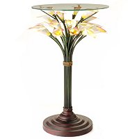 LED CALALILY TABLE WITH GLASS TOP