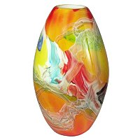 Favrile Art Glass Hand Blown Lava Vase