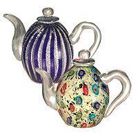 Favrile Art Glass Hand Blown Teapot Set