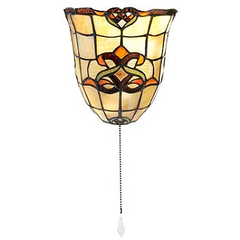 406-294 - Tiffany-Style Lighting 8'' Touch of Elegance Battery Operated LED Wall Sconce