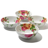Royal Albert Country Rose Set of 4 Bowls
