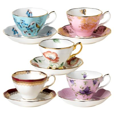 "406-362 - Royal Albert® ""100 Years of Royal Albert"" 10-Piece Teacup & Saucer Set"