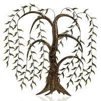 HANGING LEAVES IRON WALL DECOR