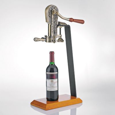 407-494 - Wine Enthusiast Bronze Legacy Corkscrew w/ Stand