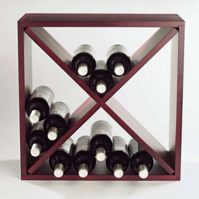 407-514 - Compact 24-Bottle Mahogany Finish Cellar Cube Wine Rack