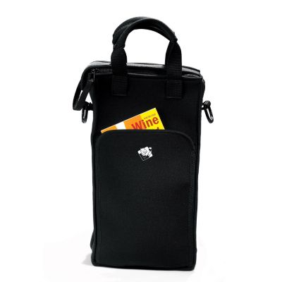 407-552 - Wine Enthusiast Two-Bottle Neoprene Wine Tote Bag