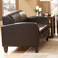 LOVESEAT DARK CHOCOLATE BROWN PU