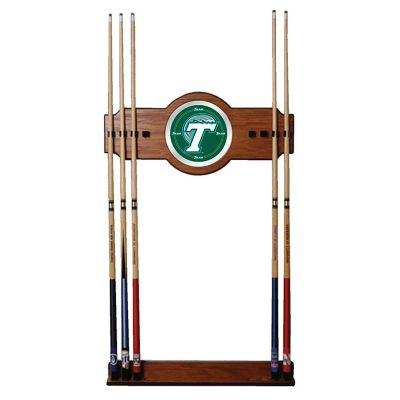 411-073 - Tulane University Wood & Mirror Pool Cue Wall Rack