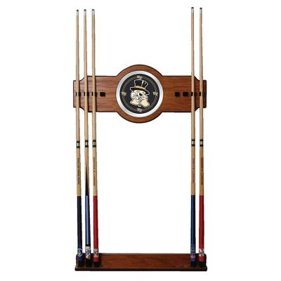 411-188 - Wake Forest University Wood & Mirror Pool Cue Wall Rack