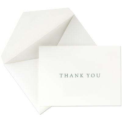 Buy thank you cards - Crane &amp; Co. Traditional Green Intaglio Thank You Cards