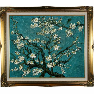 "412-223 - Branches Of An Almond Tree in Blossom By Van Gogh Reproduction 24"" x 20"" Oil Painting On Canvas"