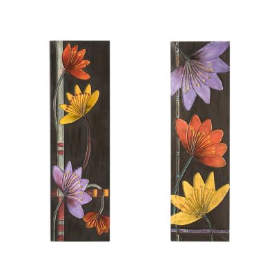 "413-212 - In Bloom 31"" x 10"" Wall Panels - Set of Two"