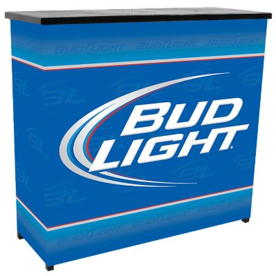 414-304 - Bud Light Deluxe Two-Shelf Portable Bar Table w/ Case