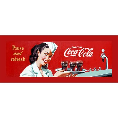 "414-332 - Coca-Cola ""Coke Waitress"" Stretched Canvas Print"