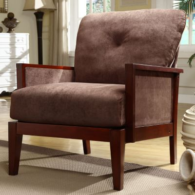 Furniture Living Room Furniture Club Chair Chocolate Microfibe