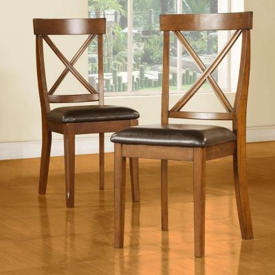 415-959 - HomeBasica X-Back Dining Chairs - Set of Two