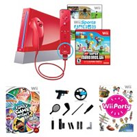 LIMITED EDITION RED WII WITH NEW SUPER M