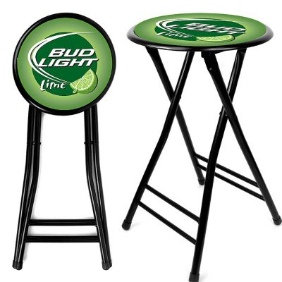 "416-624 - Bud Light Lime 24"" Cushioned Folding Stool"