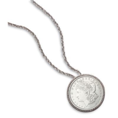 418-100 - MORGAN SILVER DOLLAR PIN/PENDANT