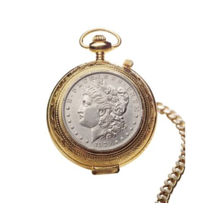 418-114 - Silver Morgan Dollar Pocket Watch