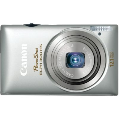 418-599 - Canon 5095B001 PowerShot ELPH 300 HS Silver 12MP Digital Camera