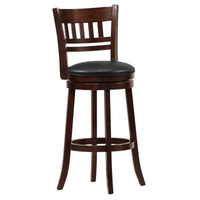 "418-864 - 29"" Counter Height Swivel Lattice Back Chair"