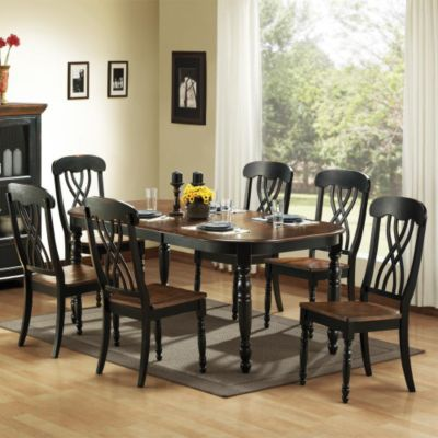 418-892 - Seven-Piece Casual Country Dining Set