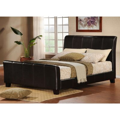 Furniture Bedroom Furniture Sleigh Queen Leather Sleigh