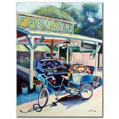 "419-340 - Framstand Bike by Colleen Proppe Reproduction 24"" x 32"" Painting on Canvas"