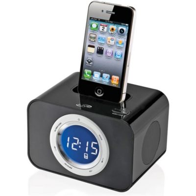 419-651 - iLive ICP211B Clock Radio for iPhone/iPod w/ Alarm