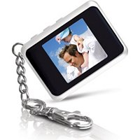 1.5 IN. DIGITAL PHOTO KEY CHAIN - WHITE