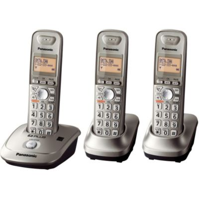 419-771 - Panasonic KX-TG7532B DECT 6.0 Plus 1.9 GHZ Expandable Set-of-Three Digital Cordless Telephones