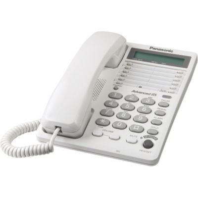 419-785 - Panasonic KX-TS108W White 1-Line Corded Integrated Telephone System