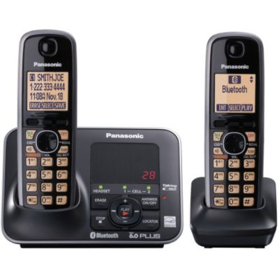 419-813 - Panasonic KX-TG7622B Link-to-Cell Set-of-Two Bluetooth Cellular Convergence Phones