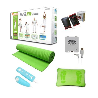 420-139 - Nintendo Wii Fit Plus Bundle w/ Balance Board, Green Mat & Accessories