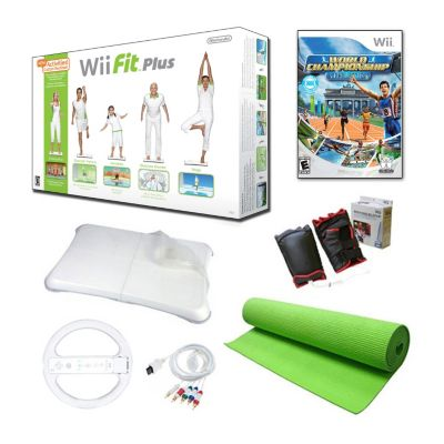 420-222 - Nintendo Wii Fit Plus Bundle w/ Balance Board, Exercise Mat & Accessories