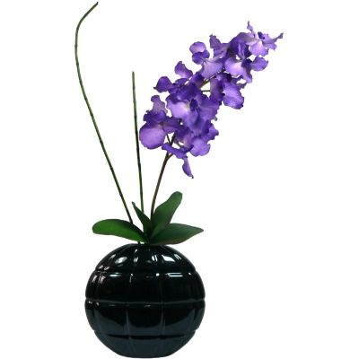 420-781 - Laura Ashley Faux Real Touch Vanda Orchid in Ceramic Vase