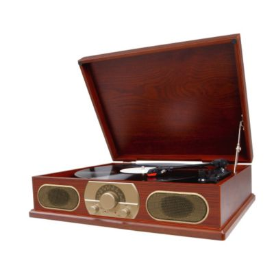 420-964 - Studebaker Wooden Turntable w/ AM & FM Radio