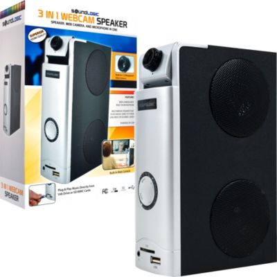 421-046 - SoundLogic Three-in-One Webcam & Desktop Speaker