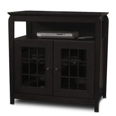 421-785 - TechCraft Flat Panel Hi-Boy TV Stand Black Finish A/V Cabinet
