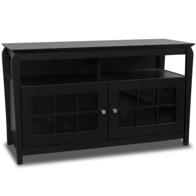 421-786 - TechCraft Flat Panel Black Finish A/V Credenza
