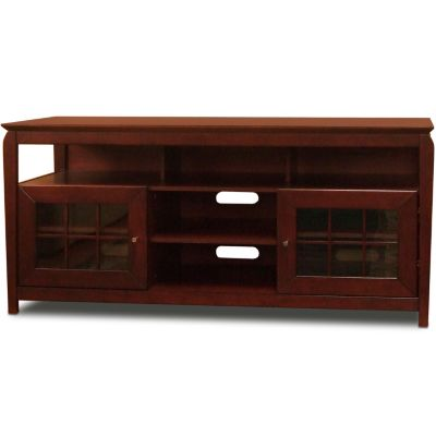 "421-792 - TechCraft 60"" Flat Panel Walnut Finish A/V Cabinet Credenza"
