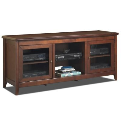 "421-795 - TechCraft 62"" Flat Panel Walnut Finish A/V Cabinet Credenza"