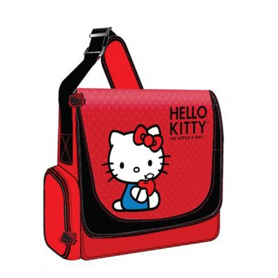 "421-899 - Hello Kitty 12"" Red Nylon Laptop Messenger Bag"