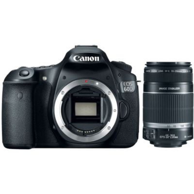 422-669 - Canon EOS 60D 18MP DigSLR Cmra & EF-S 55-250mm f/4-5.6 IS Telephoto Zm Lns